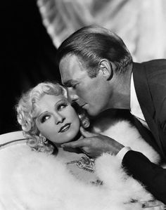 1936, via Flickr. Randolph Scott caresses Mae West's chin in this publicity still from the motion picture, Go West Young Man.    Image by © Bettmann/CORBIS / Go West, Young Man is a 1936 Paramount Pictures comedy film directed by Henry Hathaway starring Mae West and Randolph Scott. The supporting cast includes Warren William, Alice Brady, Elizabeth Patterson, and Lyle Talbot.