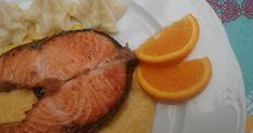Fabulosa receta para Salmón a la plancha con salsa de naranja .