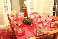 Fun Christmas party idea: adult gingerbread house competition with drinks and apps