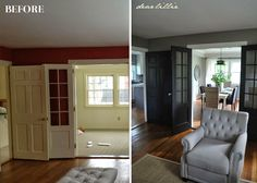 Master Makeover: DIY Plain to Paneled Door | Jenna Sue Design Blog / www.doorsandmorellc.com 228-872-1122