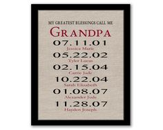 YOU PRINT, My Greatest Blessings Call Me Grandpa, Gift For Grandpa, Father's Day Gift, Dates To Remember, Printable Art, Last Minute Gift by SeventeenFields on Etsy
