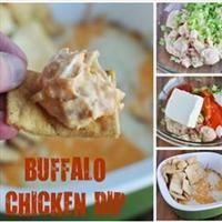 LIGHT Cheesy Buffalo Chicken Dip Recipe