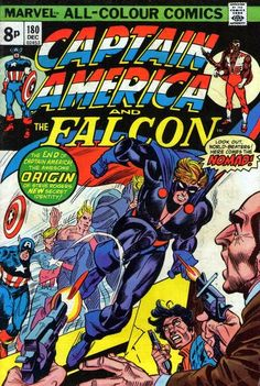 Captain America and the Falcon #180. Cap becomes Nomad.  Cover by Gil Kane.