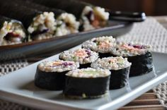 Nori Rolls with Sticky Brown Rice