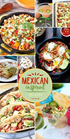 Whether you celebrate Cinco de Mayo or Taco Tuesday these Mexican inspired recipes are sure to make your fiesta the most delicious fiesta in town! Get all the favorite recipes at TidyMom.net