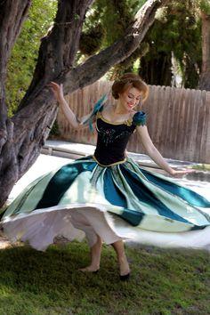 Frozen Anna Green Dress Costume Cosplay by glimmerwood on DeviantArt
