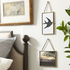 use chains for sunset pic over mirror    Kieran Hanging Brass Frame #birchlane