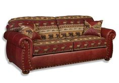 Leather Couch With Fabric Cushions Furniture Pinterest