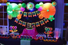 Glow Party Birthday Party Ideas | Photo 1 of 17 | Catch My Party  https://www.birthdays.durban