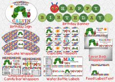 Very Hungry Caterpillar Party Printable Package. $16,00, via Etsy.