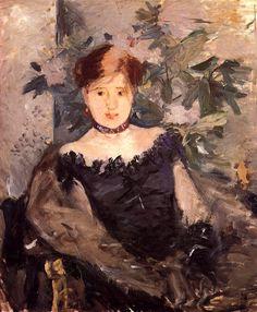 Woman in Black / Berthe Morisot - 1878