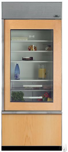 Match the cabinets and center frame the w counter depth refrigerator Sub-Zero Built-in Bottom-Freezer Refrigerator with 3 Adjustable Spill-Proof Glass Shelves, Humidity-Controlled Drawer, 1 Storage Drawer, Ice Maker, Glass Door and Star-K Certified Subzero Refrigerator, Glass Door Refrigerator, Counter Depth Refrigerator, Bottom Freezer Refrigerator, Built In Refrigerator, Refrigerator Organization, Modern Refrigerators, Grand Kitchen, Sub Zero