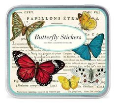 Decorative Sticker set  Butterfly vintage by MelsEclecticsupplies, $15.50