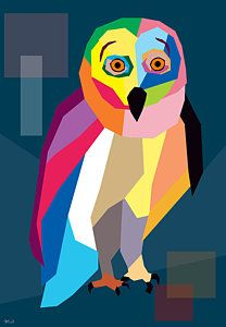 Mark Ashkenazi 'Owl Wpap' Gallery Wrapped Canvas Art [ID Owl Canvas, Canvas Art, Owl Artwork, Whimsical Owl, Thing 1, Arte Pop, Art Pages, Artist Canvas, Unique Art