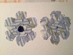 Powder Blue Fabric Shabby Chic Sizzix Tim Holtz Tattered Floral Flower Hair Clips/Broachs