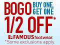 169086_Buy One, Get One Half Off Sale at FamousFootwear.com! Valid 11/18-12/26.
