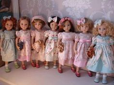 Beautiful dolls Can't imagine being able to afford so many  Little Darlings!
