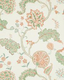 Palampore Green Red från Sanderson Print Wallpaper, Wood Blocks, Tree Of Life, Designer Wallpaper, Mystic, Display, Contemporary, The Originals, Green
