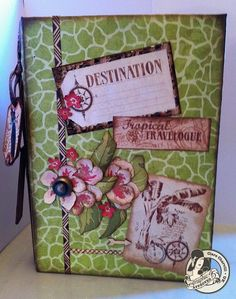Another stunning mini album from @Clare Charvill using Tropical Travelogue! You must click the picture to see all the glorious pages! #graphic45 #minialbum