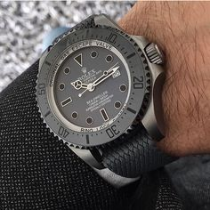 Rolex Watches - Rolex Watches - Matte Grey Rolex Deepsea custom made by Marcus Carl Rolex Watches For Men, Luxury Watches For Men, Cool Watches, Latest Watches, Men's Watches, Rolex Deepsea, Rolex Diamond Watch, Sea Dweller, Rolex Date