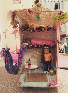 The Lea Clark house I built for my daughter Ag Doll House, Doll House Crafts, Doll Home, Doll Crafts, Lea Clark, Ag Dolls, To My Daughter, American Girl, Houses