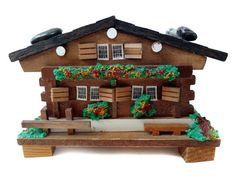 Swiss Chalet Music Box Log Cabin by CollectionSelection on Etsy, SOLD