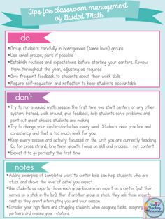 Guided math: Classroom Management