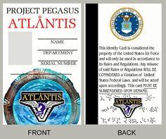 Fan-made STARGATE ATLANTIS ID card