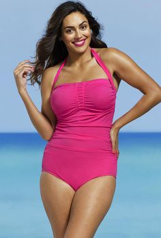 7532ebe2bc  xmas  Christmas  SwimsuitsForAll -  Shore Club Shore Club Plus Size Rose  Shirred