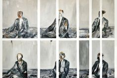 "Saatchi Online Artist: Heidi Zito; Oil 2011 Painting ""Sequence of Patient Man"""