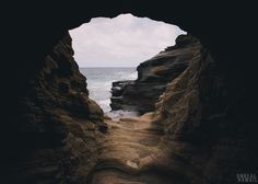 Went to explore and watch the moonrise at a cove at the end of a little lava tube. Oahu, Hawaii.