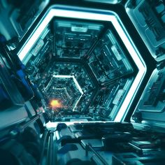"""Mi piace"": 346, commenti: 11 - Chanon Satthum (@chanonsatthum) su Instagram: ""#scifi #corridor #c4d #cinema4d #redshift #octane #photoshop #3d#hardsurface #instagood #environment"""