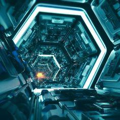 """Mi piace"": 346, commenti: 11 - Chanon Satthum (@chanonsatthum) su Instagram: ""#scifi #corridor #c4d #cinema4d #redshift #octane #photoshop #3d#hardsurface #instagood #environment"" Spaceship Interior, Surface Modeling, Cyberpunk City, Sci Fi Models, Neon Wallpaper, Alien Art, Environment Concept Art, Dark Matter, Sci Fi Fantasy"