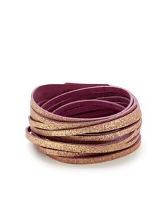 Shimmer Leather Multi-Strand Wrap Bracelet by Presh on Gilt.com