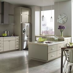 This Modern Kitchen Features Perry Street PureStyle™ Kitchen Cabinets In  Sharkey Gray Finish From Martha