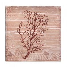 Accent Plus Sea-Swept Coral Canvas Wall Art