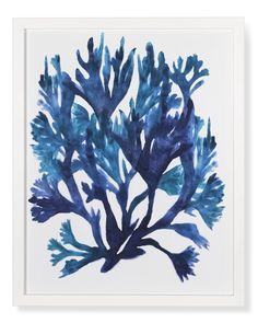 Oversized Indigo Coral Print #williamssonoma #beachchic #art