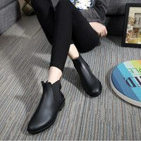 Fashion Women Boots 2016 Rain Shoes Low Heel Ankle Boots Aj Women Rainboots Botas De Agua Waterproof Rubber Boots For Women
