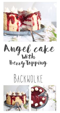 Angel Cake mit Beeren Topping