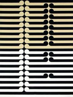 Gordon Walters, Tautahi, 1971.  PVA and acrylic on canvas.