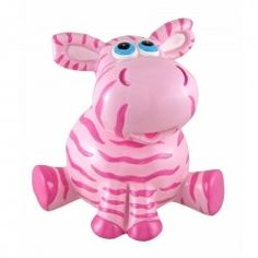 pink zebra piggy bank Cute Cubicle, Cubicle Accessories, Penny Bank, Pink Zebra Home, Piggy Banks, This Little Piggy, Money Box, Everything Pink, Ceramic Painting