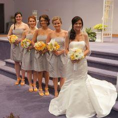 Gray and Yellow Wedding Photo by Rachel Munoz Striggow