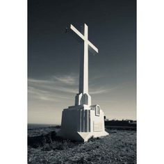 Cross on Mont St-Clair Sete Herault Languedoc-Roussillon France Canvas Art - Panoramic Images (24 x 36)