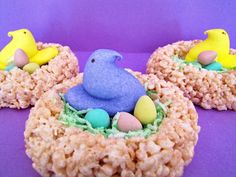 Peep nests for Easter.