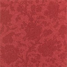 Antonelli #wallpaper in #red from the Damask Resource 2 collection. #Thibaut #Floral