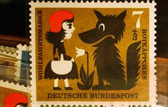 Little Red Riding Hood German stamp.
