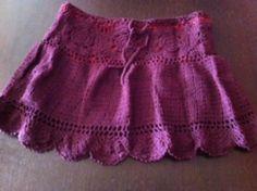 minifalda de ganchillo (crochet) minifalda 100% algodón ganchillo  crochet.