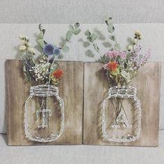 ta_pppさんはInstagramを利用しています:「⚘2017.08.10⚘ . 受付サイン完成🌱 . 真ん中はそれぞれのイニシャルにしてみました\( ˆoˆ )/ . #受付スペース #東海プレ花嫁 #プレ花嫁 #ちーむ1014 #日本中のプレ花嫁さんと繋がりたい #受付サイン #たかぴとあゆみん」 Dried Flower Bouquet, Dried Flowers, Wedding Crafts, Diy Wedding, Homemade Gifts, Diy Gifts, Crazy Wedding, How To Preserve Flowers, Creative Decor