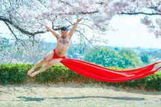 Fundoshi dancer Fundoshi, Sakura, Outdoor Furniture, Outdoor Decor, Playboy, Dancer, Character Design, Poses, Costumes