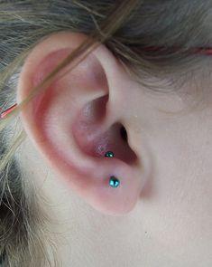 fresh 16g anti-tragus piercing